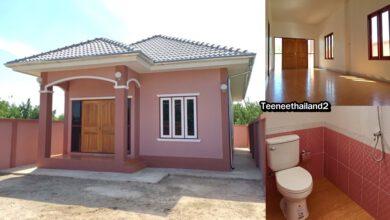 Photo of บ้านชั้นเดียวกระทัดรัดน่าอยู่ 2 ห้องนอน 2 ห้องน้ำ พื้นที่ 70 ตารางเมตร งบไม่เกิน700,000บาท