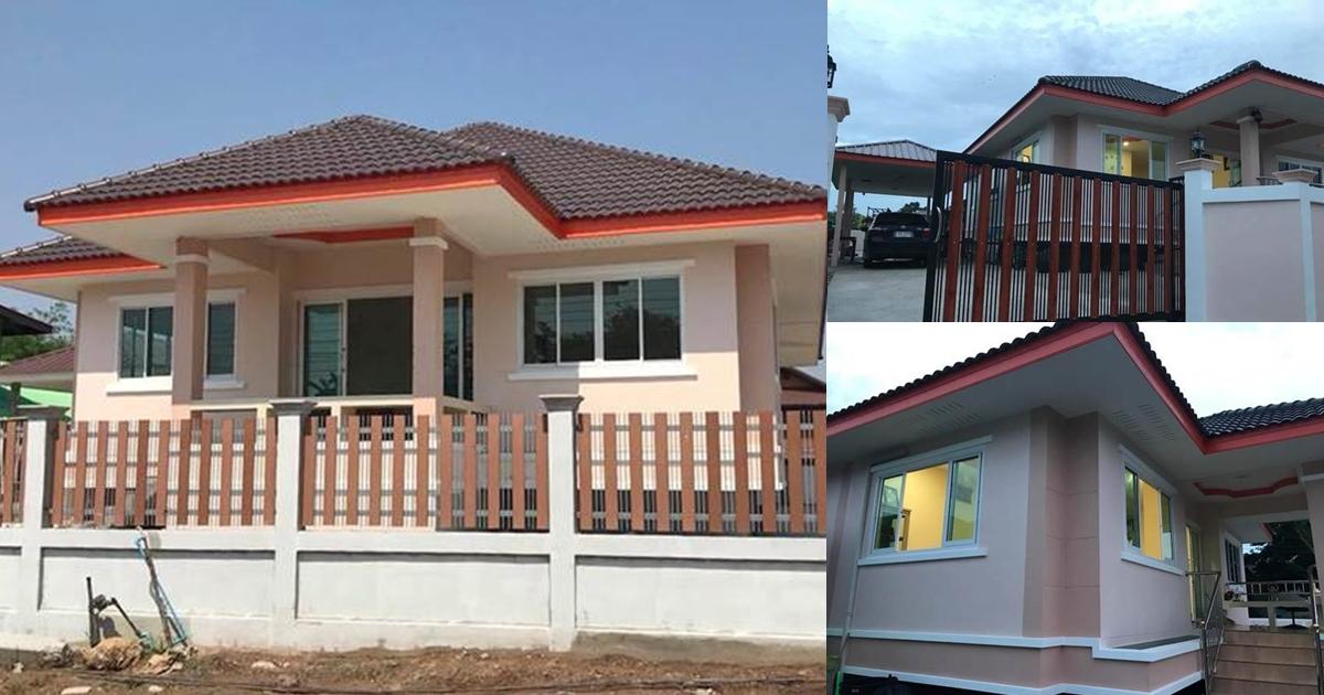 Photo of บ้านชั้นเดียวสวยเด่น 4ห้องนอน 2ห้องน้ำ พิ้นที่ 130 ตร.ม. งบ 1.3 ล้าน (มีแบบแปลน)