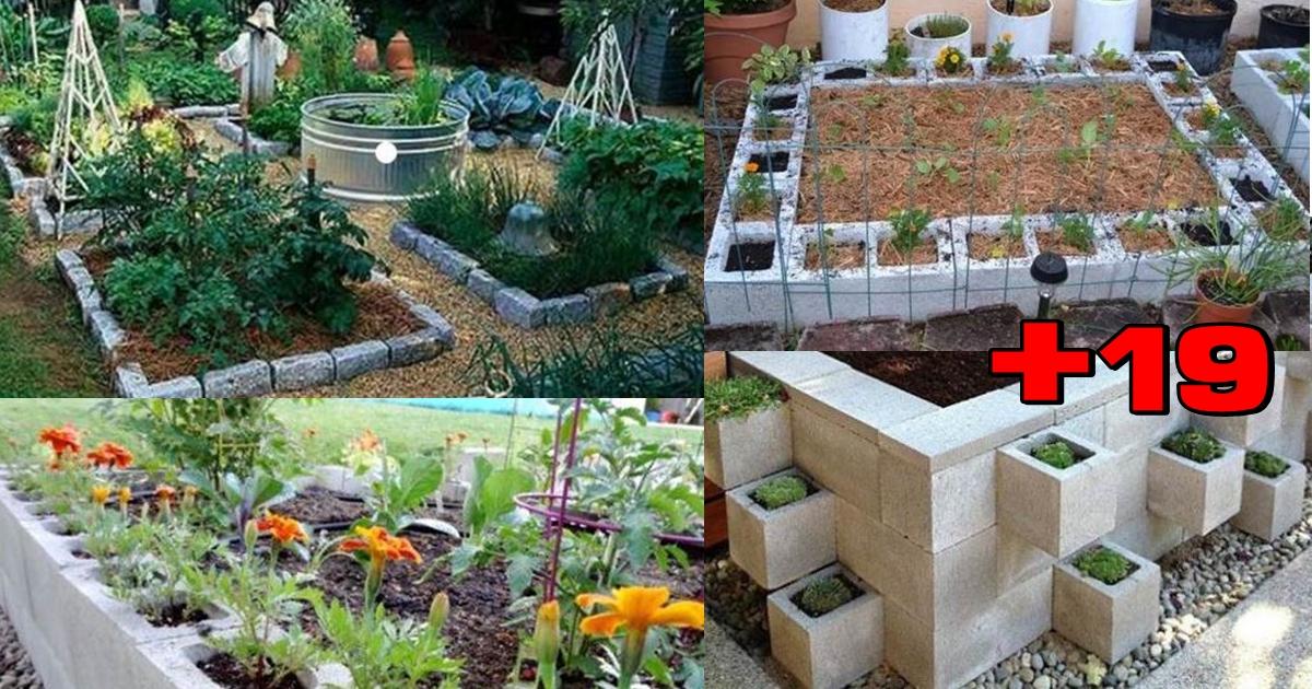 Photo of 19ไอเดีย การสร้างแปลงผัก ปลูกดอกไม้สวยงาม ด้วยอิฐบล็อก