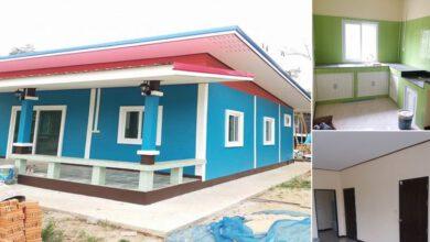 Photo of บ้านชั้นเดียว ราคาประหยัด 2ห้องนอน 1ห้องน้ำ ซื้อของเอง+เหมาช่าง งบก่อสร้าง 470,000 บาท