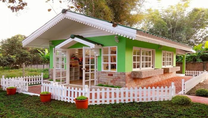 Photo of บ้านชั้นเดียว มาในแนวคอทเทจ สร้างบ้านนิทาน ในความจริง เขียว-ขาว สดใส งบประมาณ250,000บาท