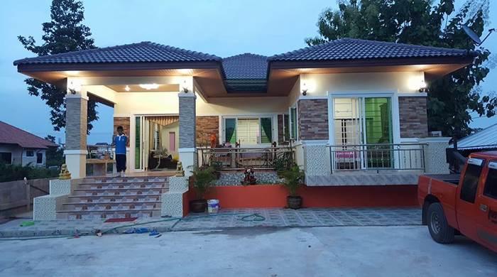 Photo of บ้านชั้นเดียวรูปทรงตัวU 3ห้องนอน 2ห้องน้ำ สวยงามมาก ง บ1.1 ล้านบาท