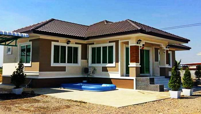Photo of บ้านชั้นเดียว ยกพื้น 3ห้องนอน 2 ห้องน้ำ งบประมาณ 900,000 บาท