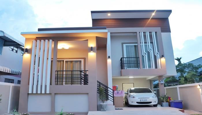 Photo of บ้านสองชั้น สไตล์โมเดิร์นคลาส เอกลักษณ์โดดเด่น 3ห้องนอน2ห้องน้ำ สีสวยสบายตา น่าอยู่มาก