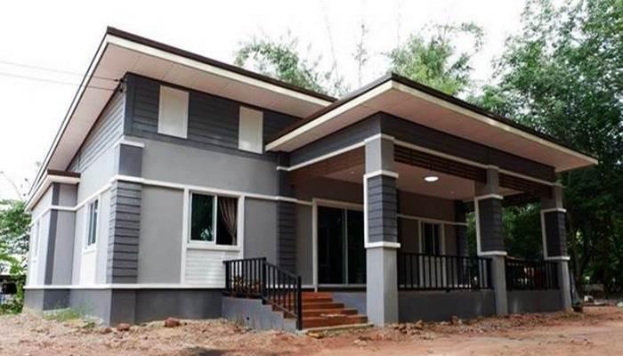 Photo of บ้านโมเดิร์นชั้นเดียว ออกแบบทันสมัยสีบ้านกลมกลืน 2ห้องนอน1ห้องน้ำ พื้นที่120 ตารางเมตร