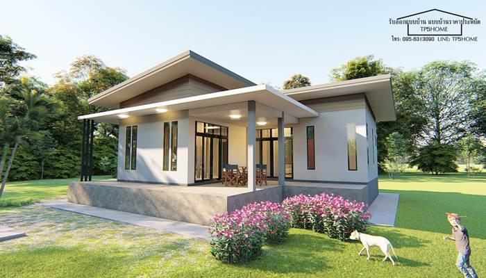 Photo of บ้านชั้นเดียวโมเดิร์น กำลังนิยม พื้นที่ 80 ตร.ม. 3ห้องนอน 3ห้องน้ำ ราคา 850,000 บาท