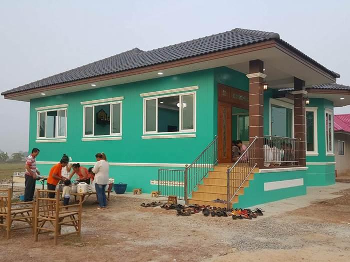 Photo of บ้านชั้นเดียวสีเขียวน่าอยู่ 4ห้องนอน 2ห้องน้ำ พื้นที่134 ตร.ม. งบประมาณ 1.4 ล้านบาท
