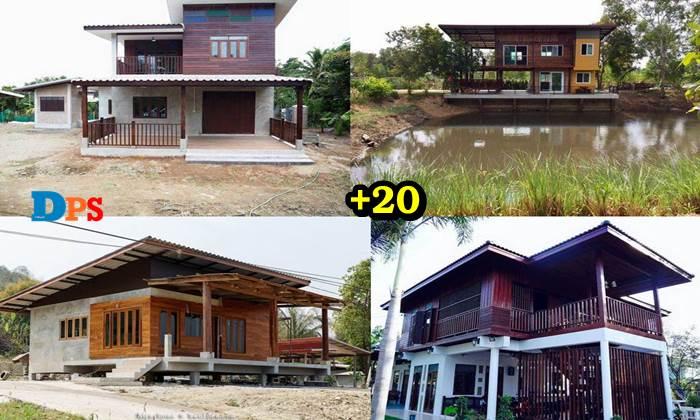 """Photo of 20 ไอเดียแบบ """"บ้านไม้กึ่งปูน"""" ปลูกสร้างง่าย สวยงามน่าอยู่"""