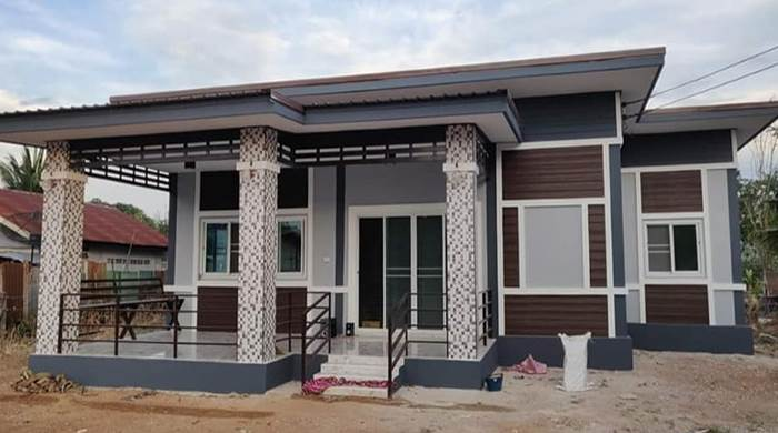 Photo of บ้านโมเดิร์นชั้นเดียว 2ห้องนอน 2ห้องน้ำ พื้นที่ 105 ตร.ม. งบ 690,000 บาท