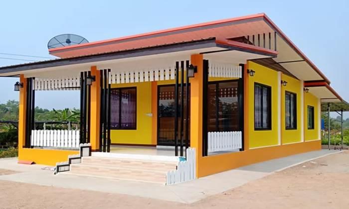 บ้านโมเดิร์นชั้นเดียว 1ห้องนอน 1ห้องน้ำ 66 ตร.ม. งบประมาณ 470,000 บาท