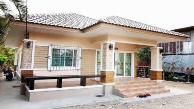 Photo of บ้านชั้นเดียวขนาด 2ห้องนอน 1ห้องน้ำ งบประมาณก่อสร้าง 6.8 แสนบาท