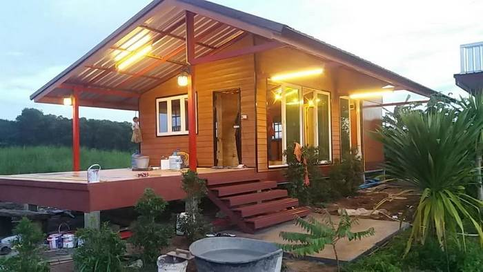 Photo of บ้านสวยสไตล์รีสอร์ท ชั้นเดียวยกพื้น 1ห้องนอน 1ห้องน้ำ 48 ตร.ม. งบไม่เกิน 320,000 บาท