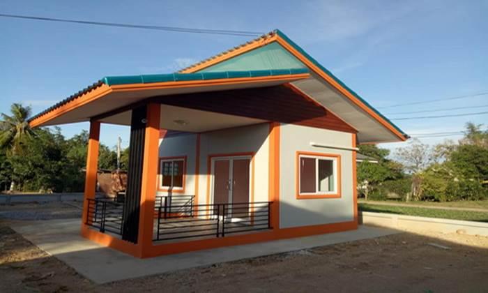 บ้านโมเดิร์นหลังเล็ก 1ห้องนอน 1ห้องน้ำ ราคาแบบประหยัด งบก่อสร้าง 170,000 บาท