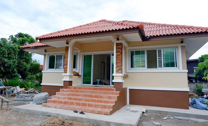 Photo of บ้านชั้นเดียวยกพื้น 3 ห้องนอน 2ห้องน้ำ 98 ตร.ม. งบประมาณ 8.5 แสนบาท