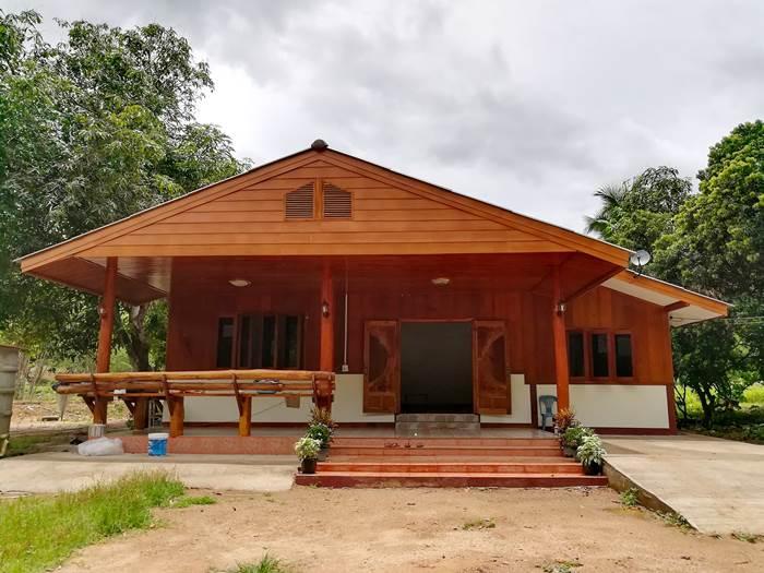 Photo of ไอเดียบ้านชั้นเดียวครึ่งปูนครึ่งไม้ สไตล์ชนบท 3 ห้องนอน 2ห้องน้ำ ง บประมๅณ 600,000 บาท