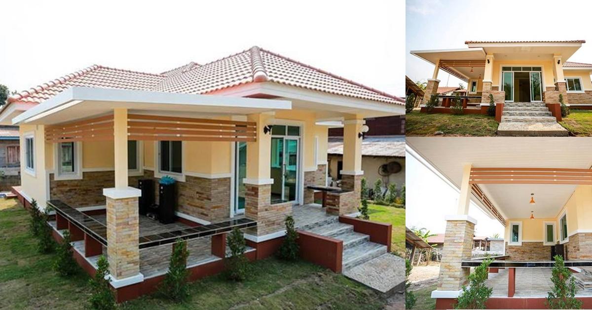 Photo of บ้านทรงร่วมสมัยชั้นเดียวย กพื้ น โดดเ ด่ นสะดุ ดตๅ ขนาด 3 ห้องนอน 2 ห้องน้ำ รๅคๅประมๅณ 1.5 ล้ๅนบๅท