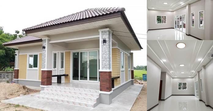 Photo of บ้านชั้นเดียวยกพื้น หลังขนาดกลาง 2ห้องนอน 1ห้องน้ำ งบก่อสร้างประมาณ 750,000 บาท