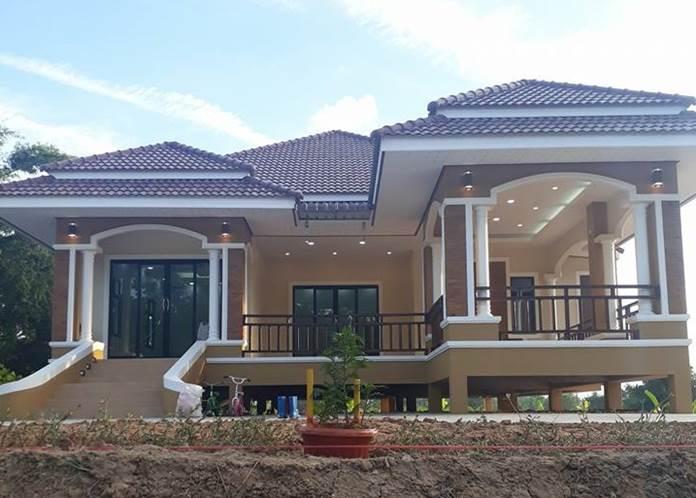 Photo of บ้านร่วมสมัยหลังใ ห ญ่ ย กพื้นสู ง แบบ 3 ห้องนอน 2 ห้องน้ำ ง บ ประมๅณ 1.8 ล้ๅนบๅท