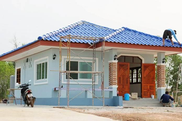 บ้านชั้นเดียวยกพื้น พื้นที่ 58 ตร.ม. สร้างในแบบ 1 ห้องนอน 1ห้องน้ำ งบก่อสร้าง 650,000 บาท