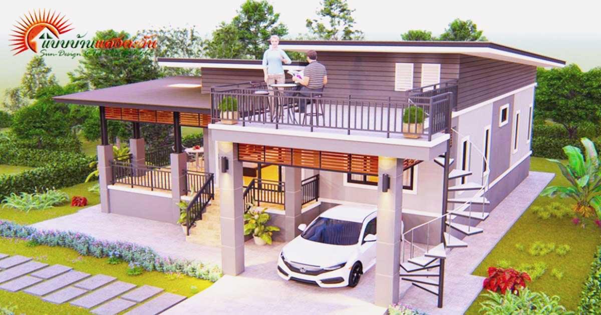 Photo of บ้านสวยในฝัน น่าอยู่ มีดาดฟ้านั่งเล่น ขนาด 3 ห้องนอน 2 ห้องน้ำ (รายละเอียด)