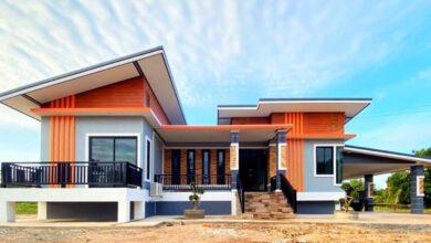 Photo of บ้านโมเดิร์น 3ห้องนอน โรงจอดรถมีที่นั่งเล่น พื้นที่ใช้สอยตัวบ้าน 150 ตร.ม. ใช้งบก่อสร้าง 1,100,000