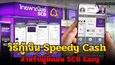 Photo of วิธีสมัครสินเชื่อ Speedy Cash ผ่านแอพธนาคารไทยพาณิชย์