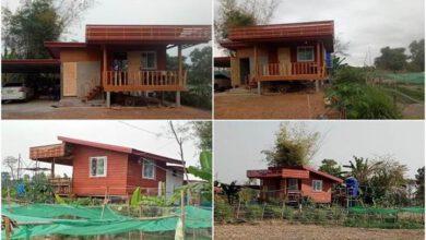 Photo of น่าอยู่มาก สร้างบ้านสวน ครึ่งปูน-ครึ่งไม้ ยกพื้น สไตล์โมเดิร์น