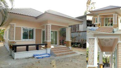 Photo of บ้านพักอาศัยชั้นเดียว ขนาด 2ห้องนอน 1ห้องน้ำ 57 ตร.ม. งบประมาณ 680,000 บาท