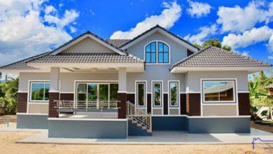 Photo of บ้านชั้นเดียวยกพื้นสูงกำลังดี ทรงร่วมสมัยสีโดนใจ 3ห้องนอน3ห้องน้ำ สวยทั้งบ้าน
