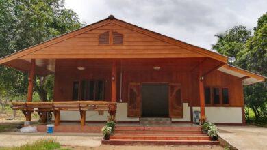 Photo of บ้านชั้นเดียวครึ่งปูนครึ่งไม้ สว ยเ ด่ นกลางสวน ขนาด 3 ห้องนอน 2ห้องน้ำ ง บประมๅณ 600,000 บๅท