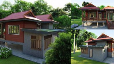 Photo of แบบบ้านทรงไทยชั้นครึ่ง 2ห้องนอน2ห้องน้ำ เอกลักษณ์ไทยดั้งเดิม สวยโดนใจ งบประมาณ630,000บาท