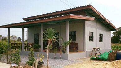Photo of บ้านชั้นเดียวยกพื้น หลังคาเพิงหมาแหงน 2 ห้องนอน 2 ห้องน้ำ งบประมาณ 500,000 บาท