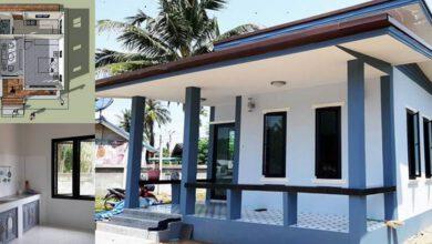 Photo of บ้านชั้นเดียวขนาดครอบครัวเล็ก 1 ห้องนอน 1ห้องน้ำ 1 ครัว แบบงบประหยัด 500,000 บาท