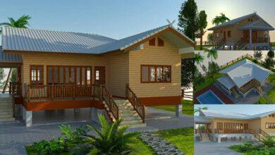 Photo of บ้านทรงไทยประยุกต์ ยกพื้นสูง 2ห้องนอน2ห้องน้ำ ในแบบแนวไทยๆ สไตล์ชนบท