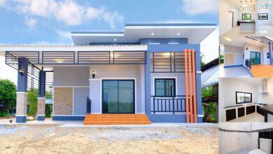 Photo of แบบบ้านสวยสไตล์โมเดิร์น ขนาด 2 ห้องนอน 2 ห้องน้ำ พร้อมโรงจอดรถ
