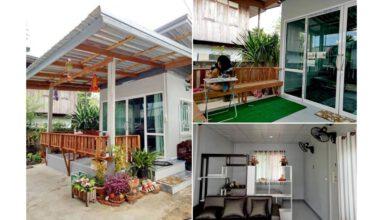 Photo of บ้านชั้นเดียว สไตล์โมเดิร์น งบประหยัด หรือ แบบต่อเติม ขนาด 1 ห้องนอน พื้นที่ 28 ตร.ม.ราคา 150,000 บาท
