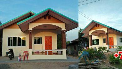 Photo of บ้านชั้นเดียวหลังคาทรงจั่ว ขนาด 1ห้องนอน 1ห้องน้ำ 1 ครัวใหญ่ งบประมาณ 5แสน