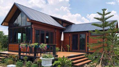 Photo of บ้านไม้ชั้นครึ่ง สไตล์ Nordic สูงโปร่ง น็อคดาวน์โครงเหล็ก พื้นที่ใช้สอยรวม 104 ตรม.