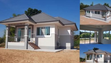 Photo of บ้านชั้นเดียวยกพื้น ออกแบบสวยงาม 3ห้องนอน2ห้องน้ำ 100 ตารางเมตร ประมาณล้านต้นๆ