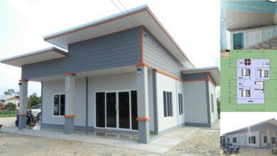 Photo of บ้านชั้นเดียวสไตล์โมเดิร์น 3ห้องนอน 2ห้องน้ำ พื้น 95 ตร.ม. ประมาณ 600,000 บาท