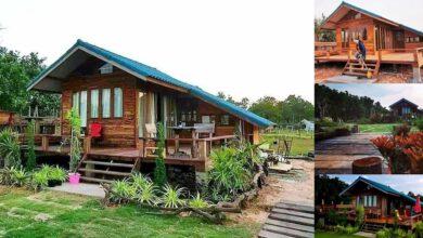 Photo of ตัวอย่างบ้านไม้ระเบียงกว้าง 1 ห้องนอน 1 ห้องน้ำ งบ 300,000 บาท