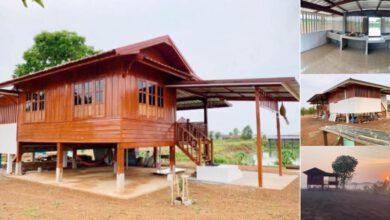 Photo of ตัวอย่างบ้านไม้แบบมีใต้ถุ่น ขนาด 1ห้องนอน 1ห้องน้ำ งบประมาณ 380000