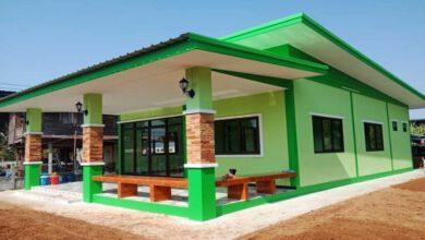 Photo of บ้านชั้นเดียวโทนสีเขียว 2 ห้องนอน 2 ห้องน้ำ สวยเด่นน่าอยู่ งบ 640,000