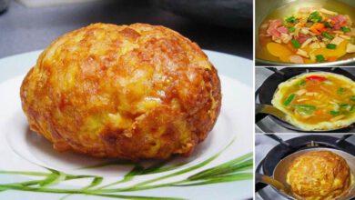 """Photo of แ บ่งบันสูตร""""ไข่เจียวซาลาเปา"""" ไข่ส อดไส้เ นื้อฟูทำง่ายๆน่าทาน"""