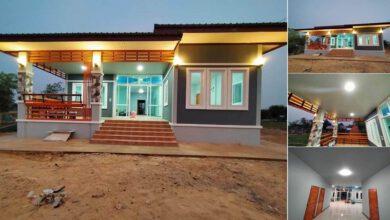 Photo of บ้านโมเดิร์นสวย 3 ห้องนอน 2ห้องน้ำ มีระเบียงพักผ่อนหน้าบ้าน