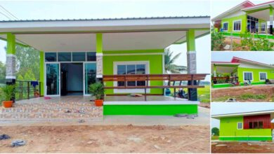 Photo of บ้านโมเดิร์นชั้นเดียว 2ห้องนอน 1ห้องน้ำ โทนสีเขียวน่าอยู่ ง บ 7แสนกว่า