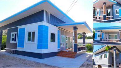 Photo of บ้านชั้นเดียวโทนสีเทาฟ้า ขนาด 3ห้องนอน 1ห้องน้ำ งบ 850,000