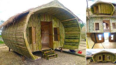 Photo of ไ อเดียบ้านไม้ไผ่ทรงอุโมงค์ (15 ตรม.) สวยงามน่ามีไว้พักผ่อน ง บ 52,000 บาท