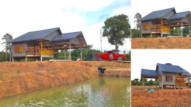 Photo of บ้านหลังน้อยกลางทุ่งนา 1ห้องนอน พร้อมระเบียงพักผ่อน งบก่อสร้าง140,000 บาท