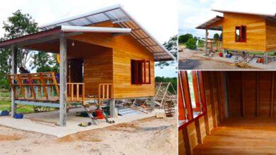 Photo of บ้านไม้กลางทุ่ง กะทัดรัด ใกล้ชิดธรรมชาติ งบ 62,000